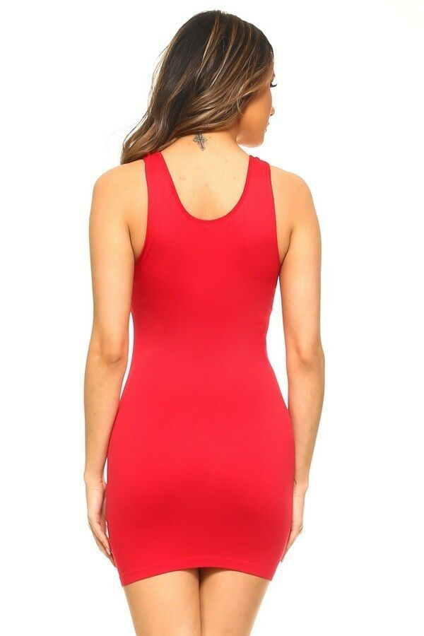 Womens Plus Cami Bodycon Slip Tank Top Mini Dress Liner One Size Fit (S,M,L)