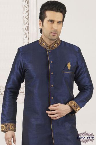 Mens Pakistani Designer Traditional Bollywood Wedding Wear Indo Western Dress
