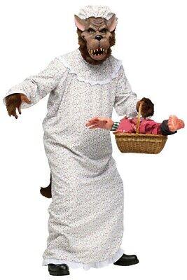 Großer böser Wolf Kostüm Märchen Kostüm Oma Rotkäppchens Großmutter - Rotkäppchen Wolf Kostüm
