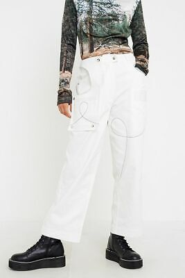Urban Outfitters House of Sunny White Cargo Trousers UK 12 (US 8) RRP £76