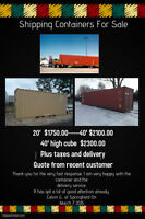 SHIPPING CONTAINERS. ...GREAT FOR STORAGE