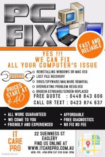 COMPUTER REPAIRS (CHEAP, FAST, PROFESSIONAL AND NO FIX NO FEE)