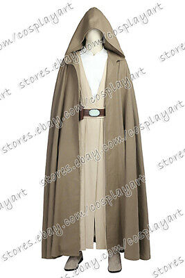 Star Wars Cosplay The Force Awakens Luke Skywalker Costume Robe Outfits Uniform