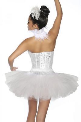 ATX 13173 White Swan Tutu Tütü Petticoat Rock Tüllrock Unterrock weiß