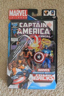 MARVEL UNIVERSE GREATEST BATTLES WOLVERINE & CAPTAIN AMERICA 2 PACK
