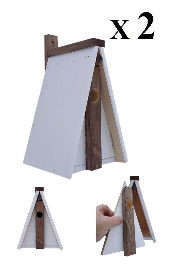 2 x Nistkästen für die Vögel,Super-Set ,SB-2,Nistkasten,Vogelhaus aus Holz