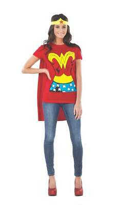 Wonder Woman T Shirt Cape (Wonder Woman DC Comics Licensed T-Shirt with Cape and Headband XL)