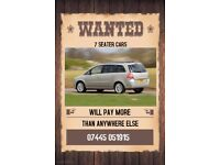 Wanted - 7 Seaters - We Buy Any 7 Seater