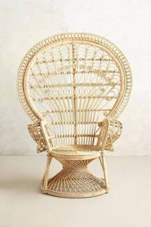 Natural Peacock Chair Hire