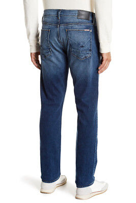Slim-zip-fly Jeans (NWT HUDSON Mens Blake Slim Zip Fly Straight Leg Jeans Size 33 Tracker Wash $198)