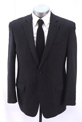mens charcoal black stripe JOHN VARVATOS blazer jacket sport suit coat wool 40 R Charcoal Stripe Suit Jacket