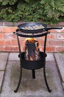 Swedish Style Log Burner with BBQ Grill Patio Heater & Barbecue combi Fire Pit