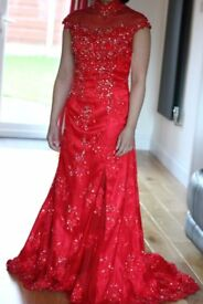 Almost new red evening dress for sale