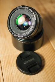 Canon 50 1.4 USM lens with original lens hood