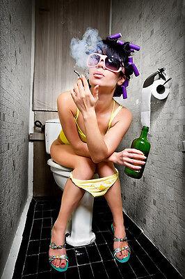 Freaky Girl (Freaky Girl - Poster, Retro & Lounge, Kunstdruck, Plakat, Pin Up)