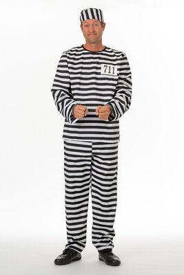 Sträfling Gefangener Häftling Knast Herren Kostüm Karneval - Herren Gefangener Kostüm