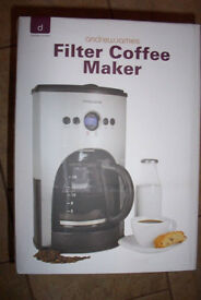 ANDREW JAMES 15 CUP DIGITAL FILTER COFFEE MAKER--NEW
