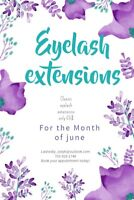 June PROMO:  mobile classic eyelash extensions ONLY 65$