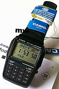 Authentic-Casio-DBC-32-1D-Illuminator-Databank-Calculator-Men-Rubber-Watch-DBC32