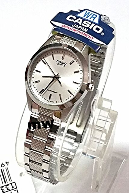 Casio Watch Women's Silver Stainless Steel Analog Quartz White Dial LTP-1274D-7A