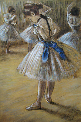 Degas Ballerina Paintings - Edgar Degas Ballerina Oil Painting repro 24