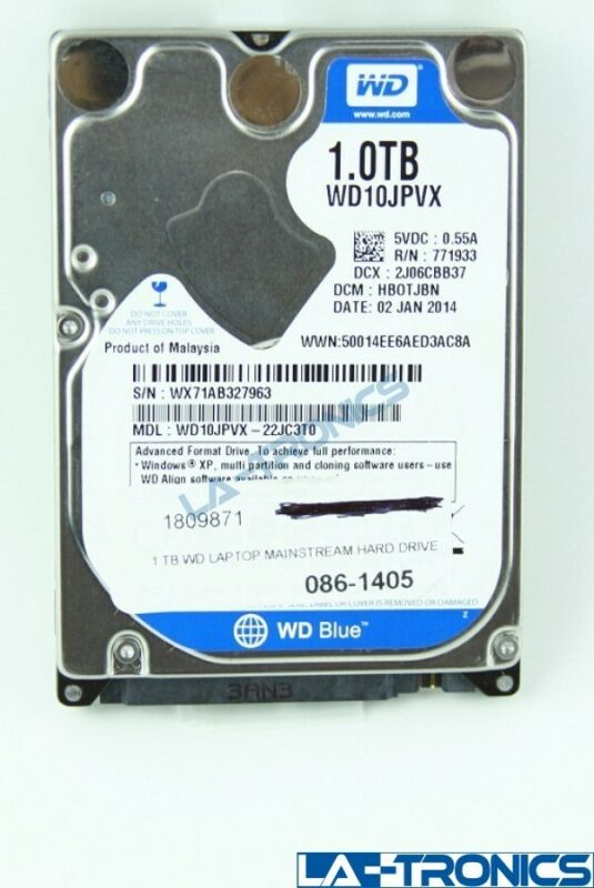 Western Digital Blue 1TB 5400RPM 2.5