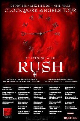 Rush 2013  box office CONCERT POSTER World Tour
