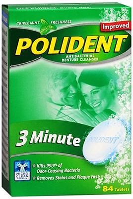 Polident 3 Minute Tablets 84 Tablets (pack Of 3)