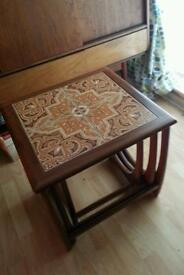 Retro nest of teak tables