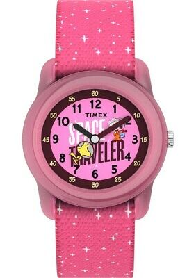 Timex TW7C79000, Peanuts-Snoopy Watch, Nasa Space Traveler, Pink Strap