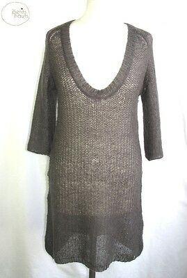 Kleinen High Heels - Tunika Pullover Ärmel 3/4 Kind Mohair Grey T 4 = 40/42 -