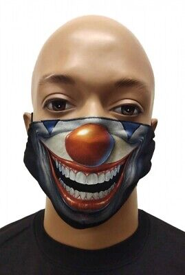 Maske Mundschutz Atemschutz Gesichtsschutz Motiv Clown - Glow InThe Dark