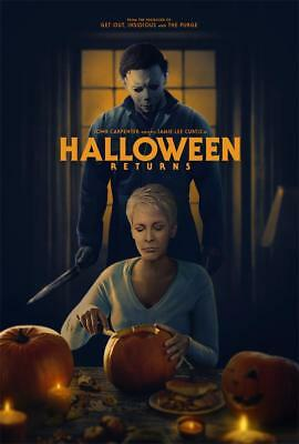 2018 Terror Film Halloween Returns Movie Art Poster Wall Decor](Filme Terror Halloween)