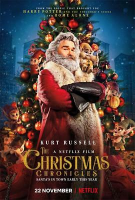 The Christmas Chronicles Film Poster Movie Cover Print Size 18x12 36x24 40x27