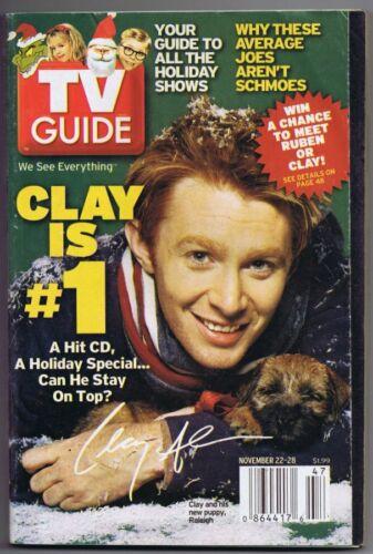 ORIGINAL Vintage November 22, 2003 TV Guide Clay Aiken Facsimile Signed