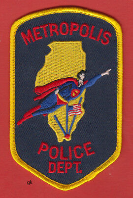 METROPOLIS ILLINOIS POLICE SHOULDER PATCH  (Home of Superman)](Supermans City)