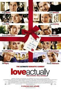 LOVE ACTUALLY movie poster LIAM NEESON, KEIRA KNIGHTLEY, COLIN FIRTH