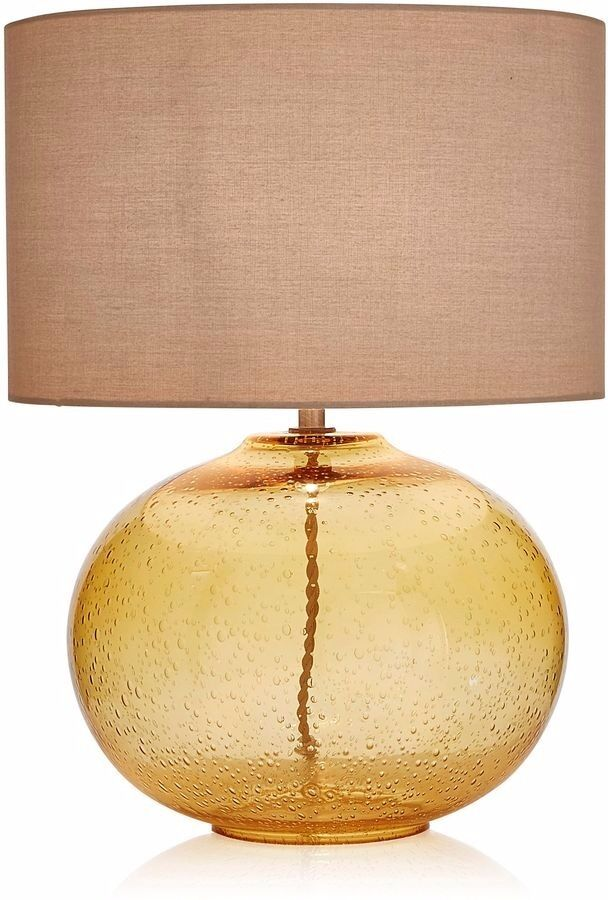 Table lamp bubble ochre glass table lamp from next in hackney table lamp bubble ochre glass table lamp from next aloadofball Images