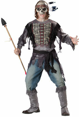 NEW InCharacter Zombie Indian Halloween Mens Adult Costume Spirit Warrior  - Spirit Halloween Zombie Costumes