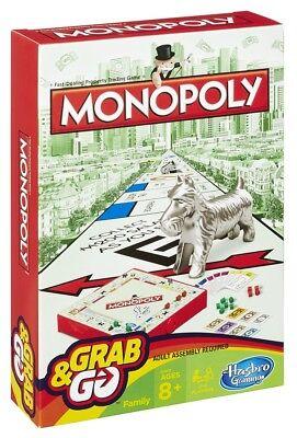 Hasbro Family Gaming Grab And Go Monopoly Travel Game Hasbro