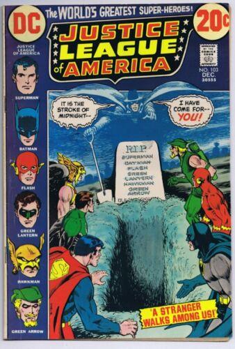 Justice League of America #103 ORIGINAL Vintage 1972 DC Comics