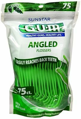 GUM Angled Flossers Fresh Mint 75 Each