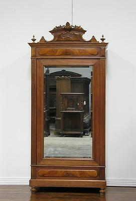851-2 : Antique French Renaissance Single Door Armoire Cabinet