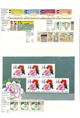[OP7802] Worldwide Topicals lot of VF MNH stamps & sheets on 12 pages