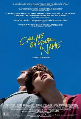 Call Me By Your Name Art Print Decor Movie Poster 18X12 36X24 40X27