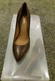 Aldo maroon office shoes