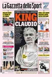 Leicester-Foxes-Premier-League-Champion-Gazzetta-dello-Sport-May-3rd-2016