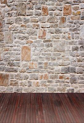 5x7ft Old Retro Stone Wall Photography Backdrops Vinyl Photo Backgrounds Props - Stone Backdrop