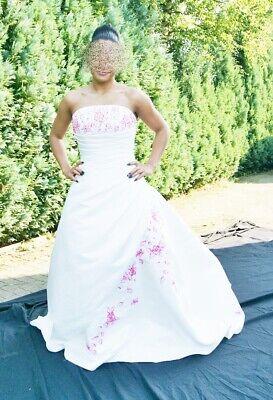Brautkleid für DICH sehr Hübsch mit Pink  NEU Gr. 38 Forever Yours  ♥ ♥ ♥ (4)  (Hübsche Hochzeits-kleider)