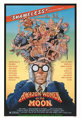 Amazon Women Of The Moon Movie Poster Original 27X41 Rolled 1987 Sci Fi Comedy